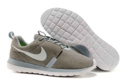 Nike Roshe Run Nm Br Mens Shoes Gray White Hot Taiwan